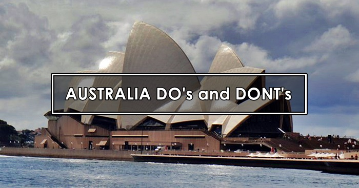 dos and donts in australia