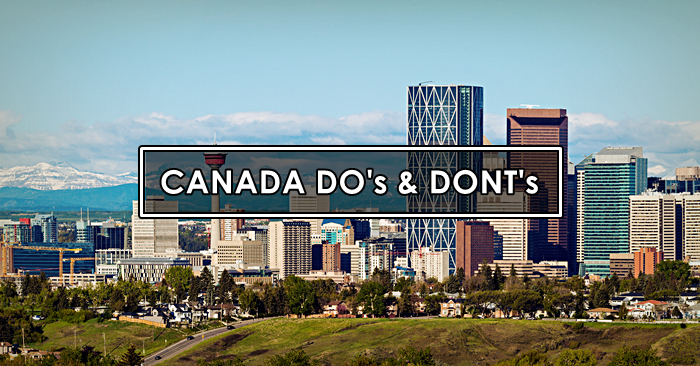 canada dos and donts