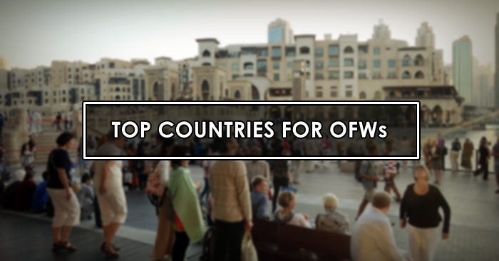 top-countries-ofws to work