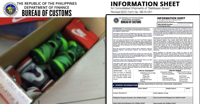 balikbayan box information sheet