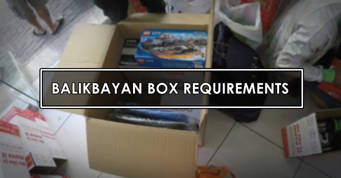 balikbayan box requirements