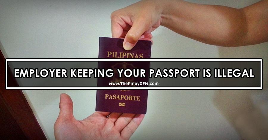 employer keeping passport illegal