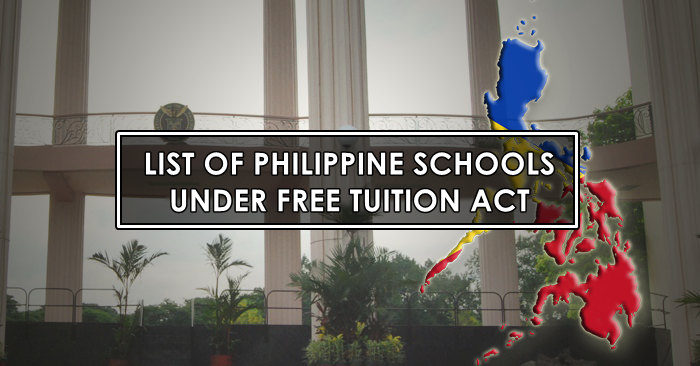 LIST: Philippine State Colleges and Universities Under Free
