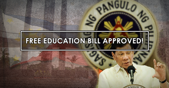president duterte photo approves free education philippines