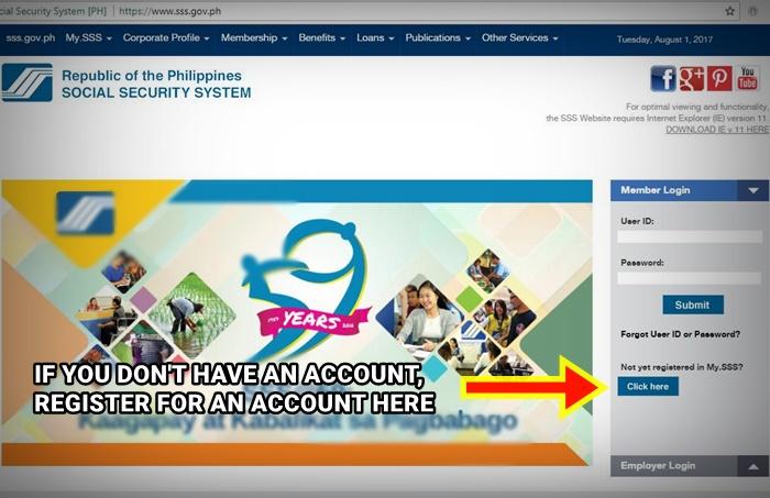 register sss online procedure