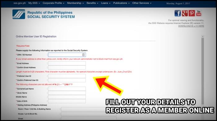 registration sss online
