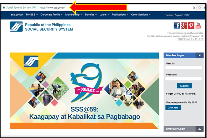 view sss online
