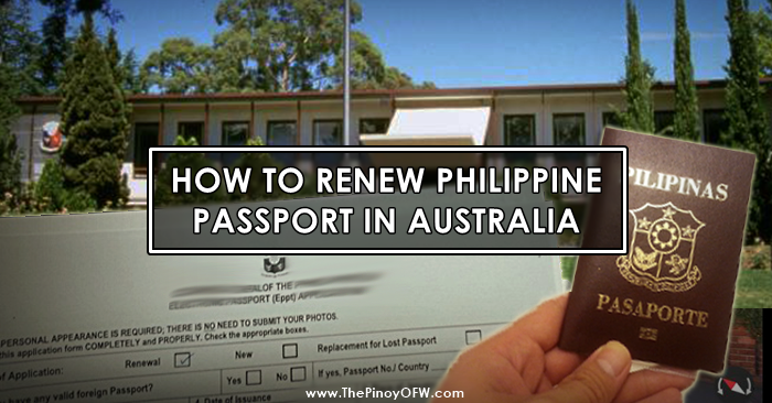 renew passport australia