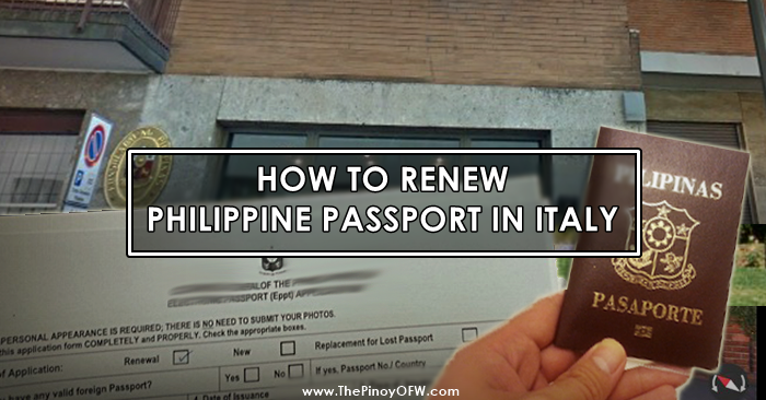 renew passport italy