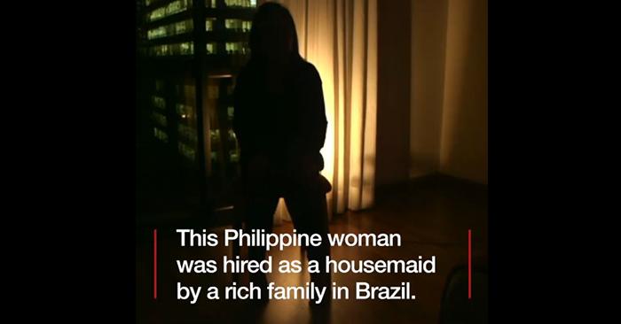 hungry filipina helper brazil maid