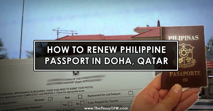 renew passport qatar