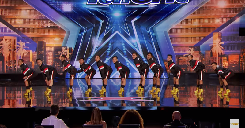 b93b9d9bc A screengrab from the clip posted on America's Got Talent YouTube Channel