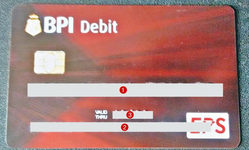 bpi atm card front