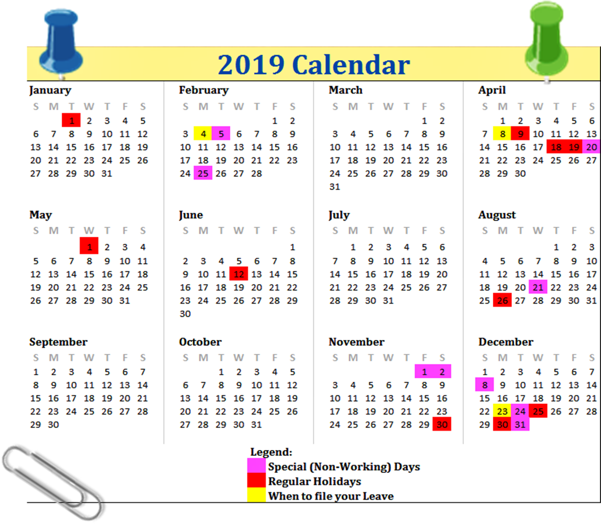 List of Philippine Holidays for 2019 – The Pinoy OFW