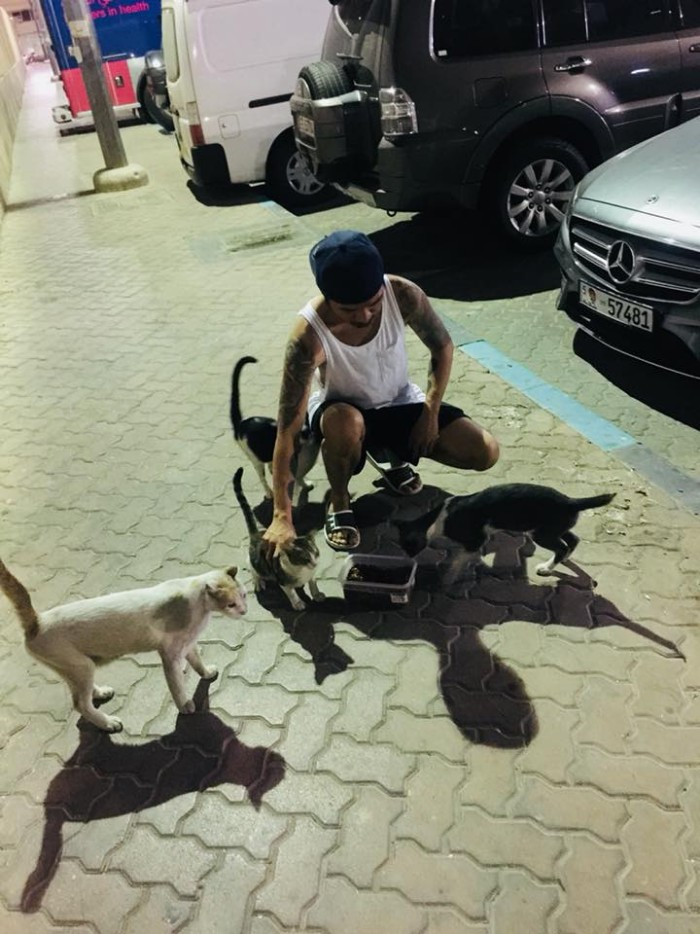 jonathan-sibol-feeds-stray