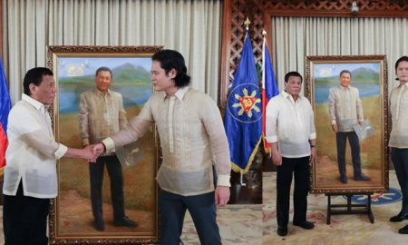 Filipino-Chinese Artist Paints President Duterte's Portrait 4