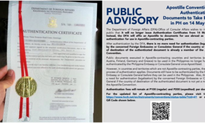 Advisory No More Red Ribbon Affixed on PH Documents