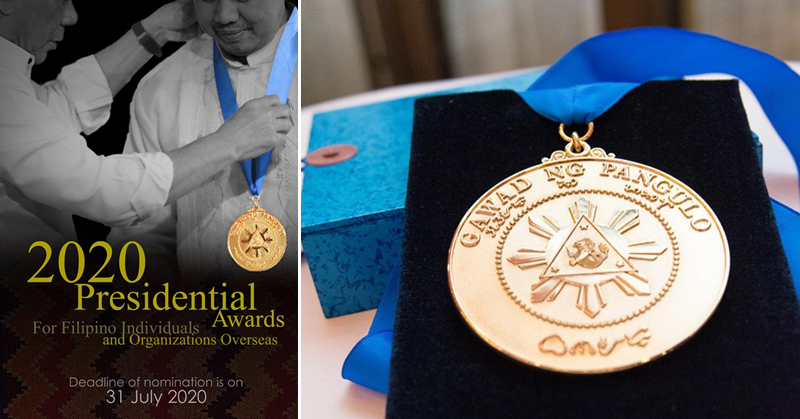 Nominations for 2020 Presidential Awards for Overseas Filipinos Now Open