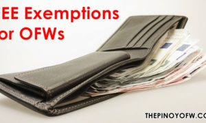 fee exemptions for OFWs