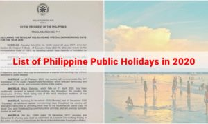 List of Philippine Public Holidays in 2020