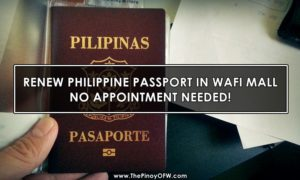 renew ph passport in dubai wafi mall no appointment