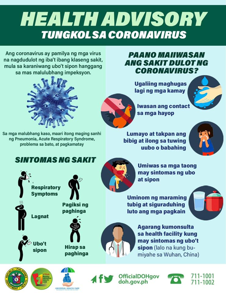 How to Protect Yourself from Novel Coronavirus (nCov) - DOH
