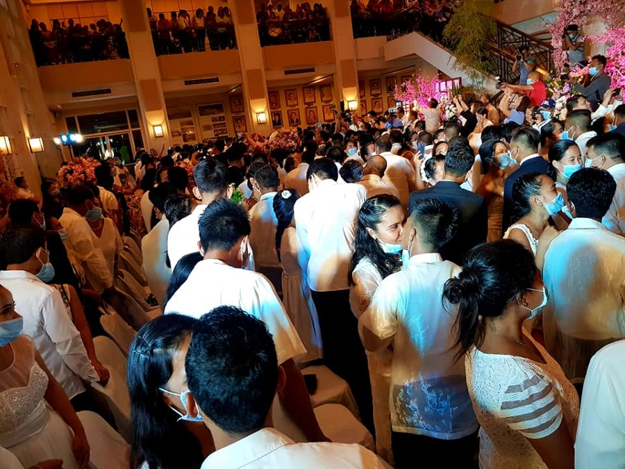 Couples Tie the Knot in Philippine Masked Wedding
