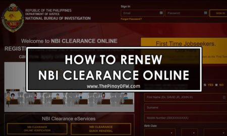 how to renew nbi clearance online