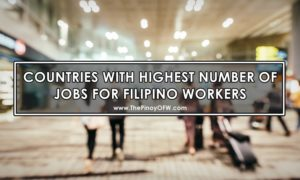 Top 10 Countries with the Most Number of Jobs for OFWs
