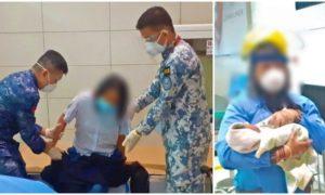 woman gives birth at airport