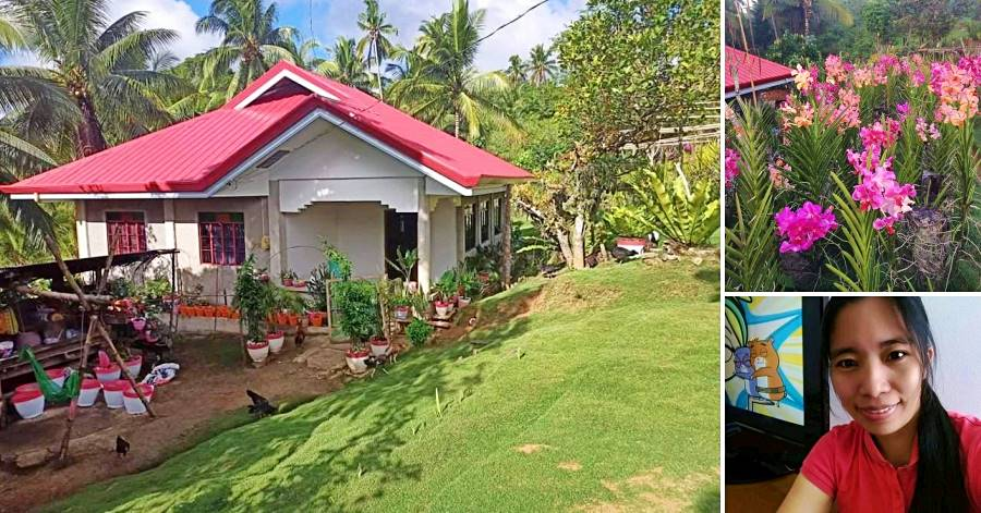 filipina housemaid builds 4 BR house and flower business