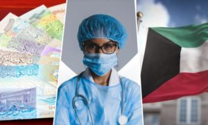 monthly salary nurse in kuwait
