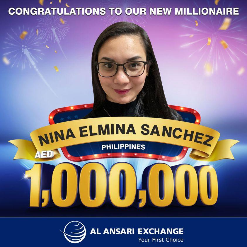 al ansari exchange million winner filipina