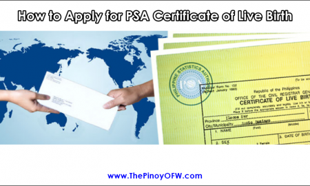 how to apply PSA live birth certificate