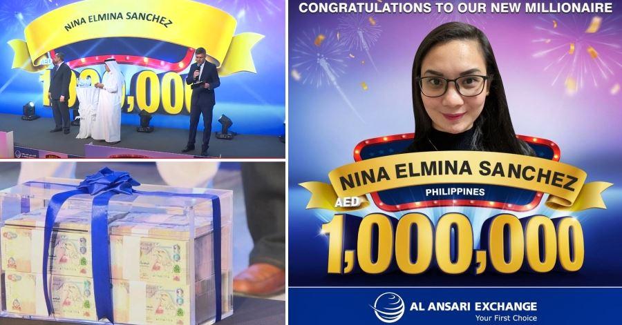 nina elmina sanchez win in UAE raffle