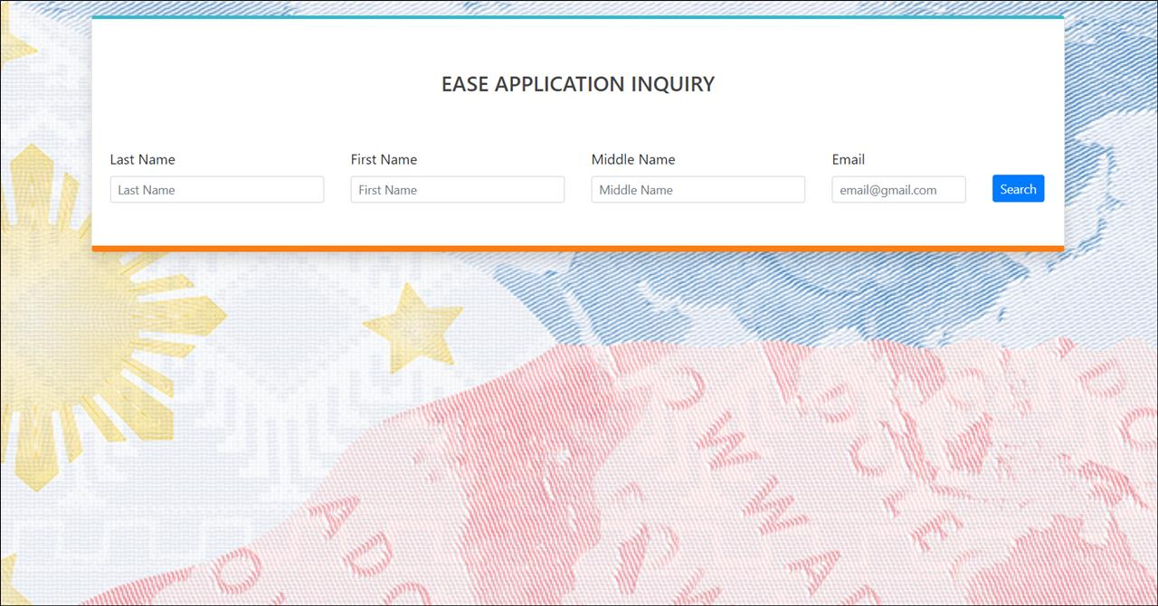 OWWA EASE status application inquiry