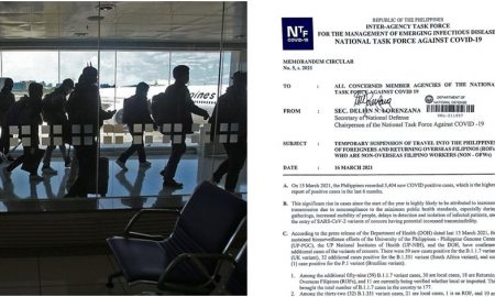 PH Bars Entry of Foreigners, Returning Filipinos who are not OFWs