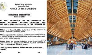 cebu visitors no quarantine travel
