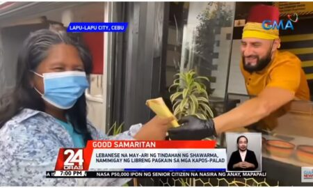Expat in Lapu-Lapu City Gives Residents who Can't Buy His Shawarma Free Food Instead